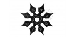 Throwing star 8 blades - Black