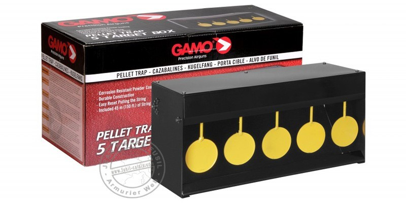 GAMO - 5 circles pellet trap - Grey and yellow