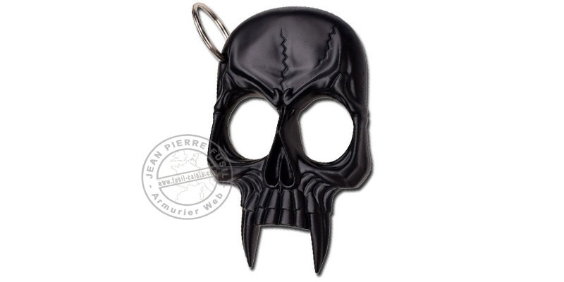 Skull key ring knuckle-duster - Black