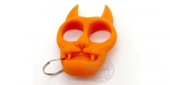 Poing américain porte clefs Chat - Orange