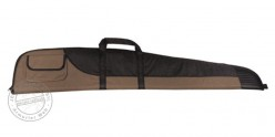 Textile rifle case - Black and brown - 132 cm