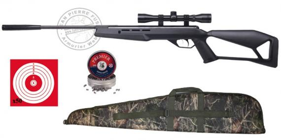 Carabine CROSMAN F4 NP 4.5 mm (19.9 joules) - noire + lunette 4 x 32
