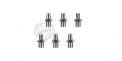 6 stainless steel nipples for black powder replicas PIETTA