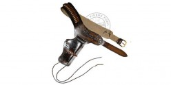 Printed leather buscadero - 1 revolver