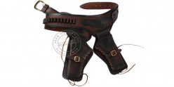 Printed leather buscadero - 2 revolvers