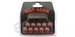 SELF-GOMM adapter for BRUNI-KIMAR blank firing guns + 10 rubber balls