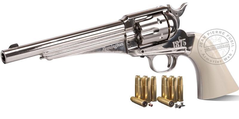 REMINGTON 1875 CO2 revolver 6'' barrel - .177 bore - Nickel (3 Joules)