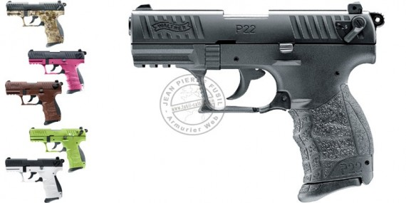 WALTHER P22Q blank firing pistol - 9mm blank bore