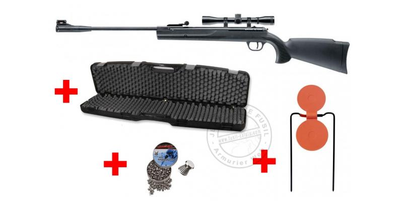 Kit carabine 4,5 mm RUGER Air Scout (19.9 joules) - PACK PROMO