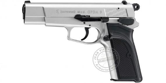 Pistolet d'alarme Umarex BROWNING GPDA Cal. 9 mm - Argent Brossé