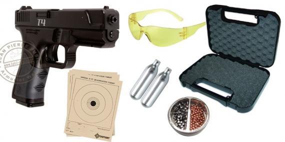 Pack pistolet 4,5 mm CO2 CROSMAN T4 (3,5 joules)