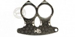 2 fingers knuckle duster pointed - Titanium