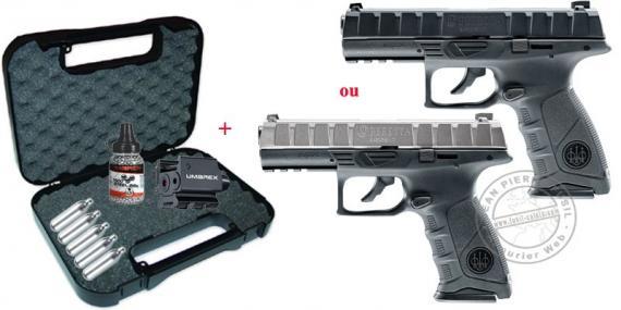 Kit Pistolet à plomb CO2 UMAREX - Beretta APX (2,5 joules) PROMO