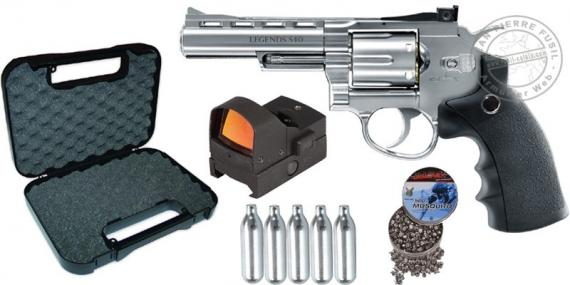 UMAREX Legends S40 CO2 revolver pack - .177 bore - Silver (3.2 Joules) - CHRISTMAS 2017 OFFER