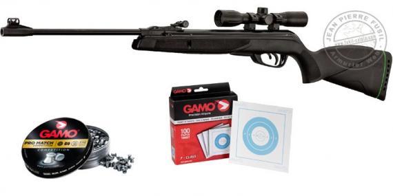 Kit carabine à plombs GAMO Black Shadow GR (19,9 Joules) - PACK NOEL 2017