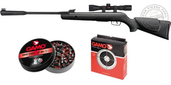 GAMO Quiet Cat airgun kit (19,9 Joules) - CHRISTMAS 2017 PACK