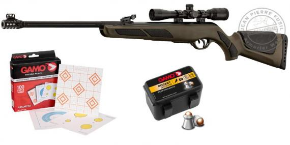 GAMO Shadow DX Green OD airgun kit + 4x32 scope - .177 rifle bore (19.9 joules) - CRISTMAS 2017 PACK