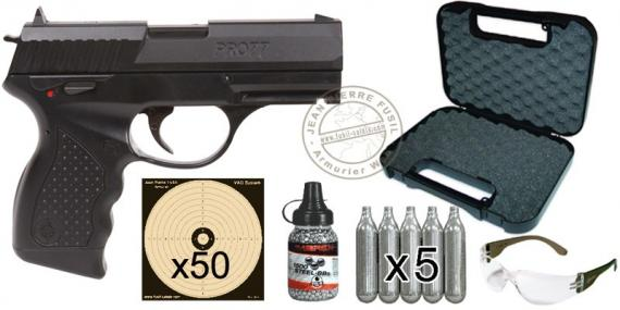 Kit pistolet à plomb CO2 4.5 mm CROSMAN Pro 77 - Blowback (1,8 Joules) - PROMOTION