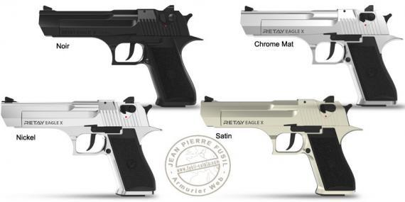 Pistolet d'alarme RETAY Eagle X - Cal. 9mm