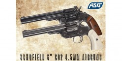 Revolver à plombs 4.5mm CO2 ASG Schofield - Canon 6'' (2,9 Joules)