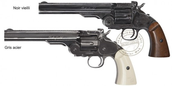 ASG Schofield CO2 revolver 6'' barrel - .177 bore (2.9 to 4 Joules)