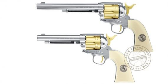 "Revolver à plombs 4,5 mm CO2 UMAREX Colt SAA .45 - Gold Edition - Canon 5,5"" ou 7,5"""