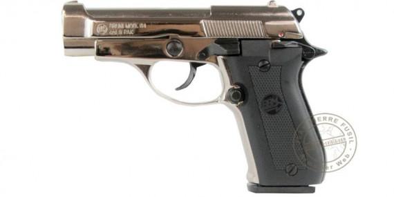 BRUNI Mod. 84 blank firing pistol - Nickel plated - 9mm blank bore