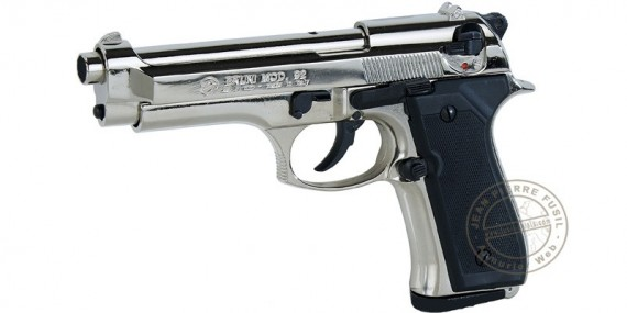 BRUNI Mod. 92 blank firing pistol - Nickel plated - 9mm blank bore