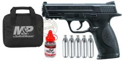 Kit Pistolet à plomb CO2 4.5 mm UMAREX - Smith & Wesson Mod. MP - Noir (2,5 joules)
