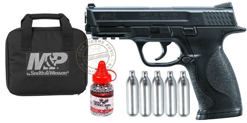 UMAREX - Smith & Wesson Mod. MP CO2 pistol pack - Black - .177 bore (2,5 joules)