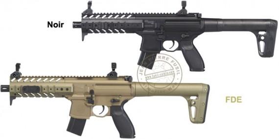 Pistolet mitrailleur à plomb CO2 4,5 mm SIG SAUER MPX ASP (5 joules max)