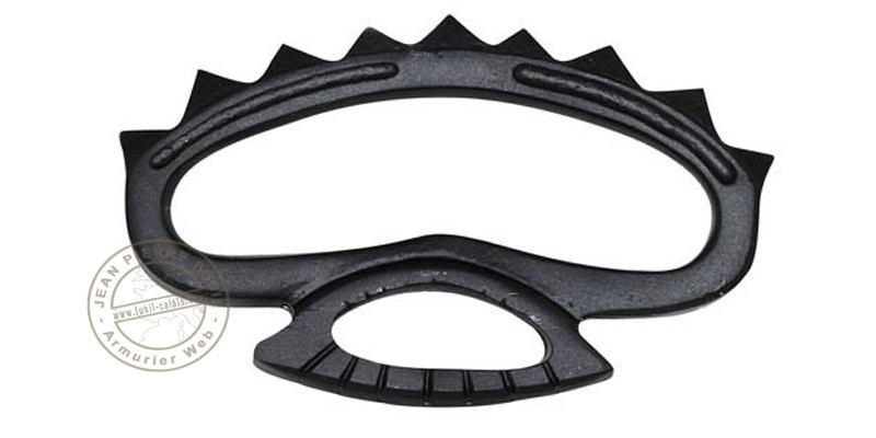 Metal knuckle duster with peaks - Black