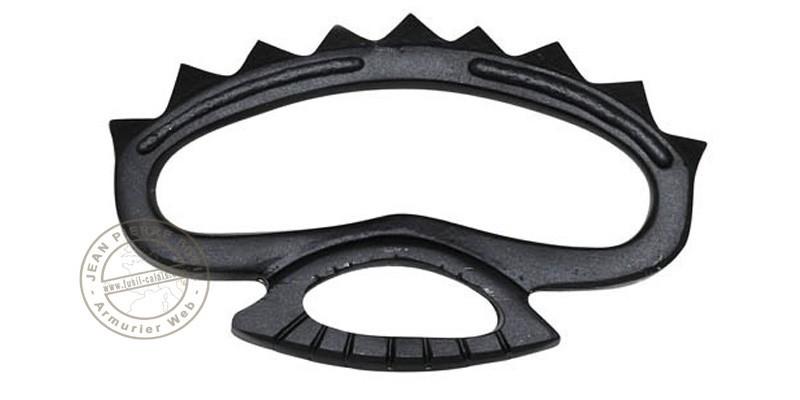 Metal knuckle duster with peaks - Black