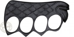Metal knuckle duster squared - Black