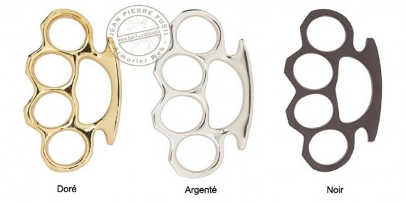 Metal knuckle duster - Black, Silver or Gold