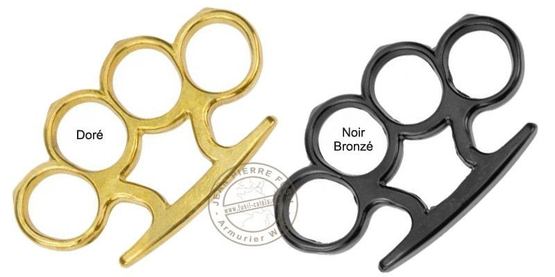 Standard Knuckle-duster with peaks - Golden bronze