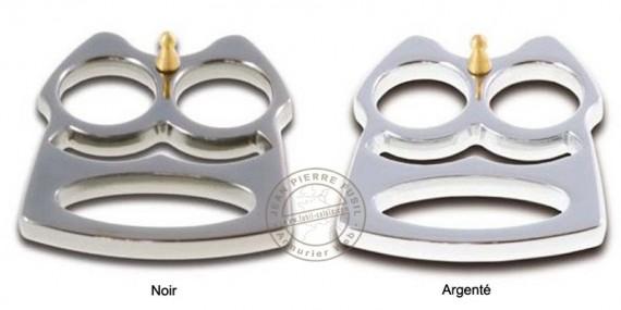 Belt knuckle-duster - Black or Silver