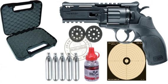 Kit revolver 4,5 mm BB CO2 UMAREX UX Tornado (2,5 Joules) - PACK PROMO NOEL 2018
