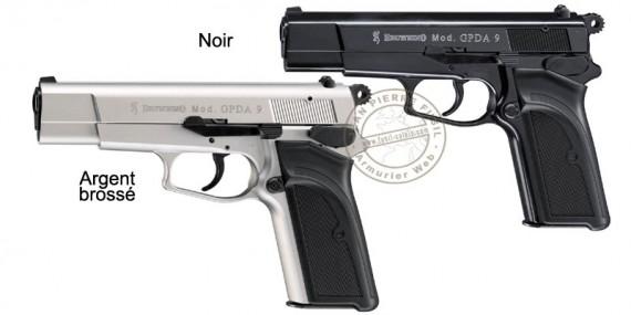 Pistolet d'alarme Umarex BROWNING GPDA Cal. 9 mm - Noir ou Argent Brossé