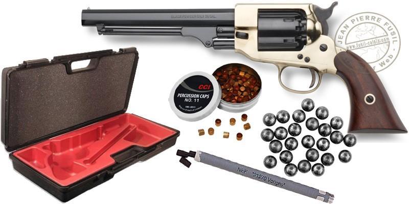 Kit Revolver PIETTA Spiller & Burr 1862 Cal. 36 - Canon 6,5'' -PACK PROMO