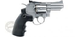Revolver à plombs 4.5mm CO2 UMAREX Legends S25, S40 ou S60 - Finition Argent (2,8 à 3,5 Joules)