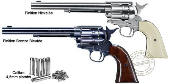 "Revolver à plombs UMAREX Colt SAA .45 canon 7.5"" - 4,5mm CO2 - Plombs"