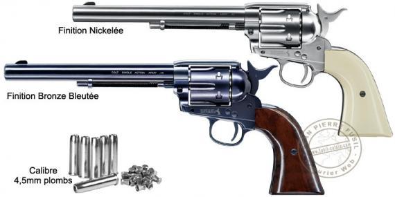 UMAREX Colt SAA .45 CO2 revolver - 7.5'' barrel - .177 bore - Pellets