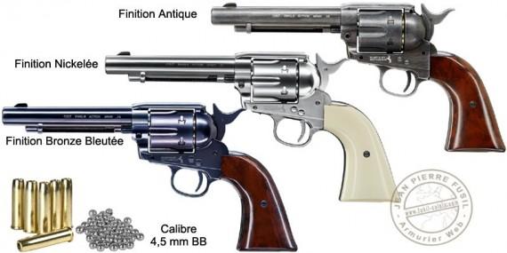 "Revolver 4,5 mm CO2 UMAREX Colt Single Action Army 45 - Canon 5,5"" - BB"