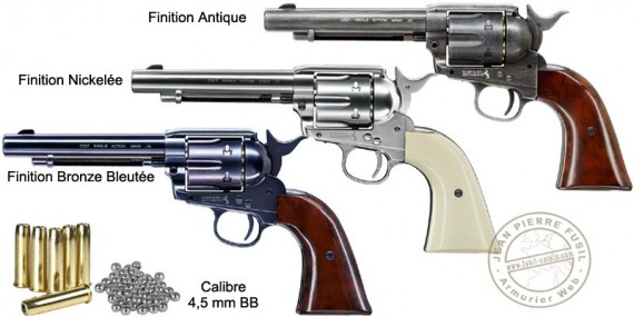 "UMAREX Colt Single Action Army 45 CO2 revolver - 5,5"" barrel - .177 BB bore"