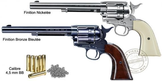 UMAREX Colt SAA .45 CO2 revolver - 7.5'' barrel - .177 BB bore