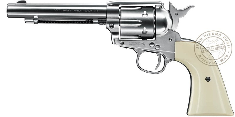 Revolver 4,5 mm CO2 UMAREX Colt Single Action Army 45 - Finition nickelée - Plombs