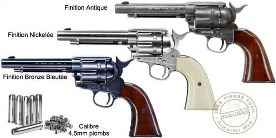 "UMAREX Colt Single Action Army 45 CO2 revolver - 5,5"" - .177 bore - Pellets"