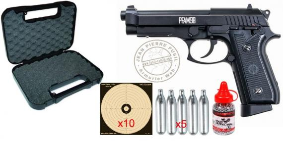 Kit pistolet à plomb CO2 4.5 mm CROSMAN PFAM9B - Blowback - Full Auto (2,5 joules)