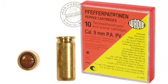 9 mm pepper gas pistol cartridges / 10